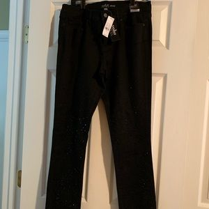 Jeans - Black w/beaded accent